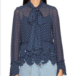 See by Chloe Bow Ruffled Georgette Blouse